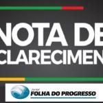 Nota sobre Pesquisa divulgada pelo Jornal Folha do Progresso da empresa Destak que foi proibida pela Justiça Eleitoral
