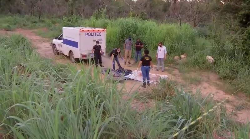 Local onde o corpo da empresária foi encontrado — Foto: TV Centro América