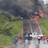 Motorista fica preso nas ferragens e morre carbonizado em acidente no Pará