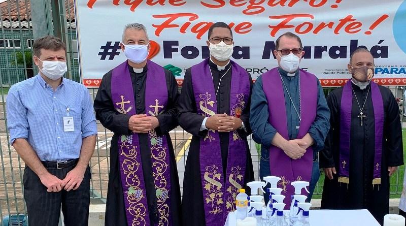 Dioce de Marabá leva mensagem do Papa Francisco ao HRSP Fotografia Comunicação Pró-Saúde