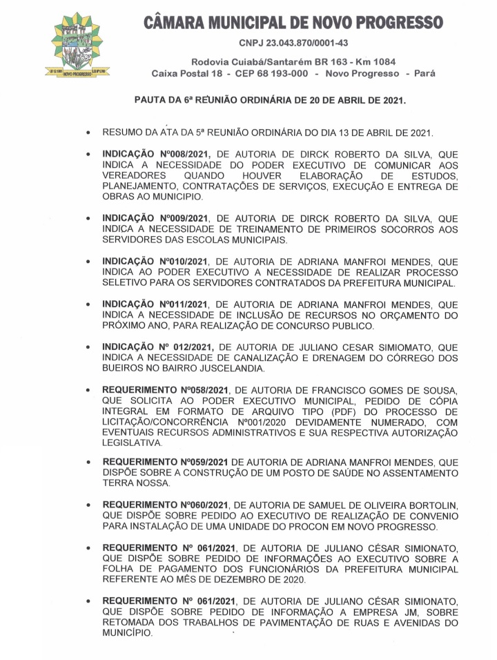 Divulgação Câmara Municipal
