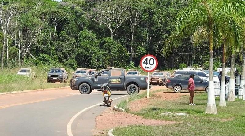 Força Nacional faz segurança no aeroporto de Jacareacanga