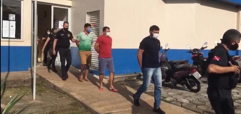 """rês homens foram presos na última quarta-feira, 19, suspeitos de organizar uma """"ovada"""" no governador Helder Barbalho (MDB), durante sua visita ao município de Tucuruí, (Foto:Reprodução)"""