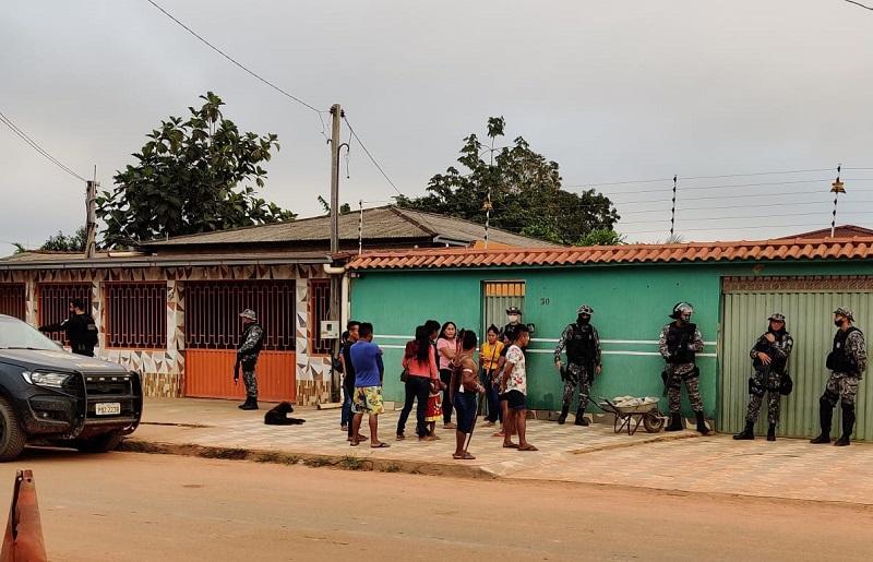 Residência do vice prefeito alvo da operação em Jacareacanga.(Foto:whatsapp)