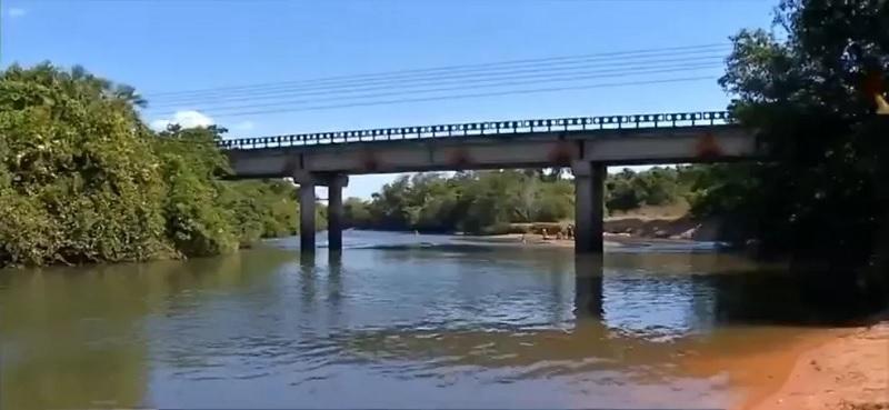 Ponte do Rio Sepotuba, em Tangará da Serra — Foto: TV Centro América