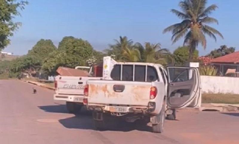 Foto:Reprodução/acidente entre duas camionete