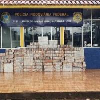 PRF apreende uma tonelada de cocaína que saiu de Novo Progresso no km 782 da Transamazônica