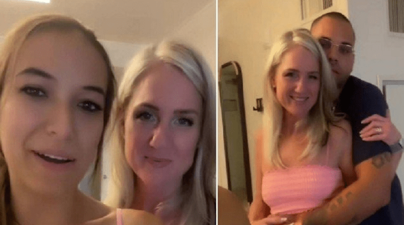 mulher libera mae para o marido