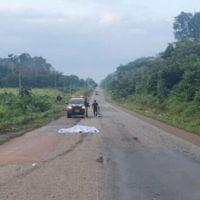 Motorista morre atropelado pelo próprio caminhão na BR 163 no Pará