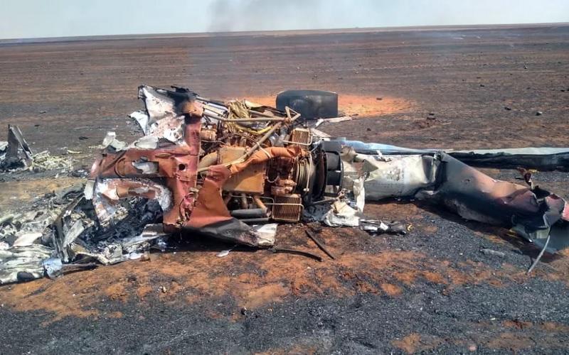 Piloto sobreviveu após acidente — Foto: Polícia Militar