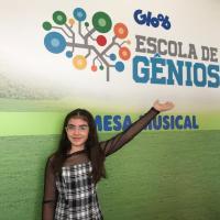 A atriz Mel Bayde participou neste fim de semana das atividades temáticas do Gloob no Museu Catavento em São Paulo