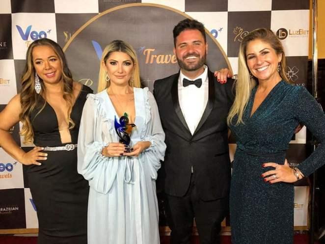 Marcilia Luzbet, Antônia Fontenelle, Danilo Costa e Patricia Maldonado. Foto: Denny Silva e Roberto Assis / RZ Assessoria