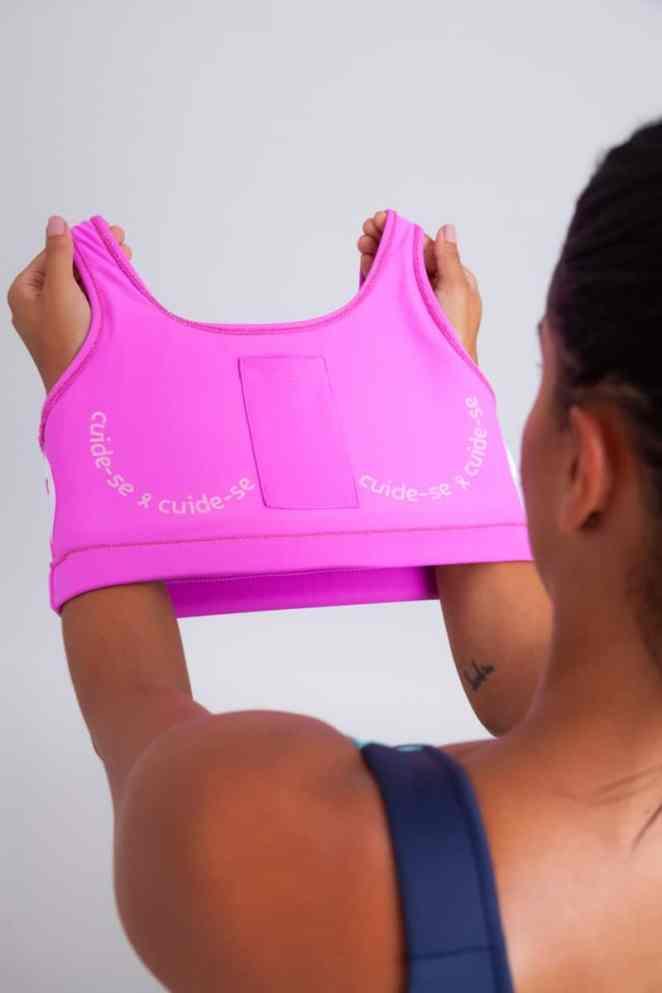 Authen lança edição limitada de top esportivo para o outubro rosa. Foto: Divulgação