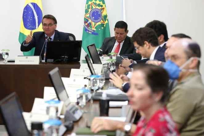 Bolsonaro faz videoconferência com Governadores do Centro-Oeste nesta terça-feira (24) (Foto: Marcos Corrêa/PR)