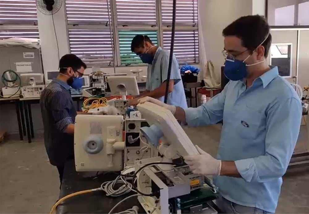 Ford já consertou mais de 200 respiradores para hospitais da Bahia e do Ceará