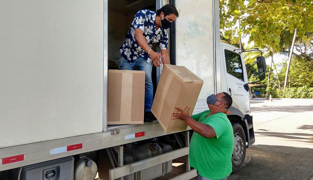 Governo da Bahia envia 720 mil máscaras de tecido e TNT para 64 municípios de seis territórios