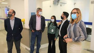 Representantes do Ministério da Saúde visitam Hospital Ernesto Simões para conhecer modelo de prontuário eletrônico (Foto: Divulgação/Ascom)