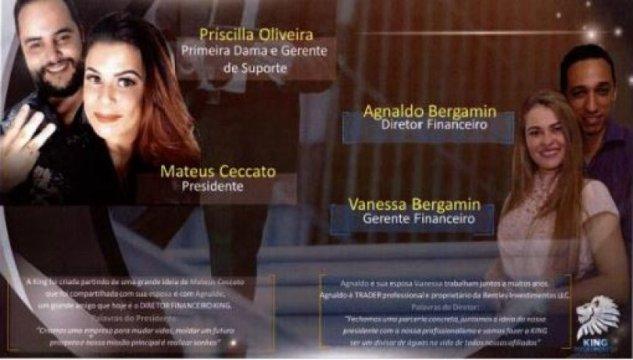 golpistas piramide, Mateus Ceccato, Agnaldo Bergamin
