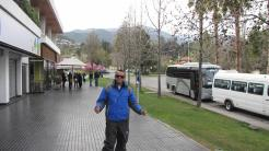 De saída para conhecer o Valle Nevado.