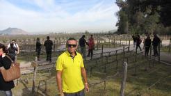 Visitando mais uma vinícola nos arredores de Santiago