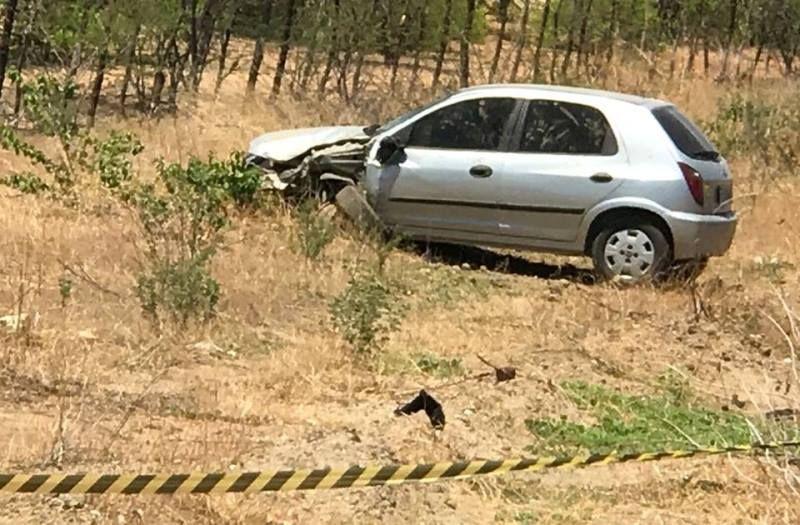 Colisão entre carro e moto deixa uma vítima fatal na estrada entre São José do Bonfim e Patos