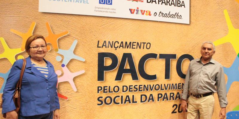 Bonifácio Rocha e Alana Candeia representam Patos no lançamento do Pacto de Desenvolvimento Social