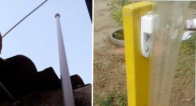 Engenheiro Rildo Alencar instala pluviômetros pela cidade de Patos e vem acompanhando os índices de chuvas