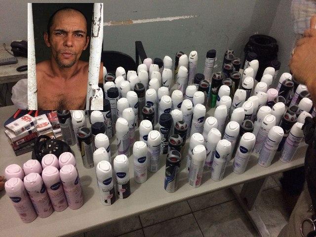Polícia prende, em Patos, homem acusado de furtar supermercado em Olho D'água