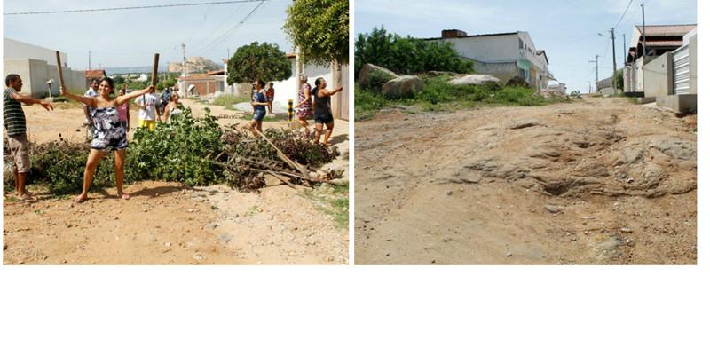 Moradores das Ruas Alice Barreto e João Maria, no Jardim Redenção, reclamam da falta de calçamento