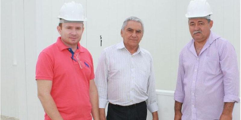 Presidente da Câmara e prefeito interino visitam obras no município