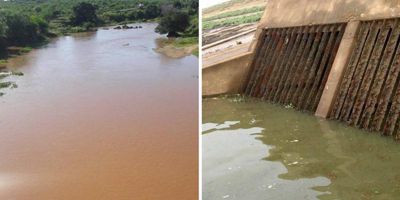 Rio Piancó despejando um bom volume de água no Açude de Coremas, que agora supera os três metros de recarga