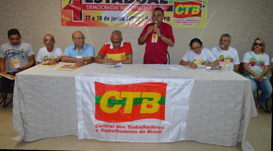 Sindicalistas da Paraíba participarão de Congresso Nacional da CTB em Salvador