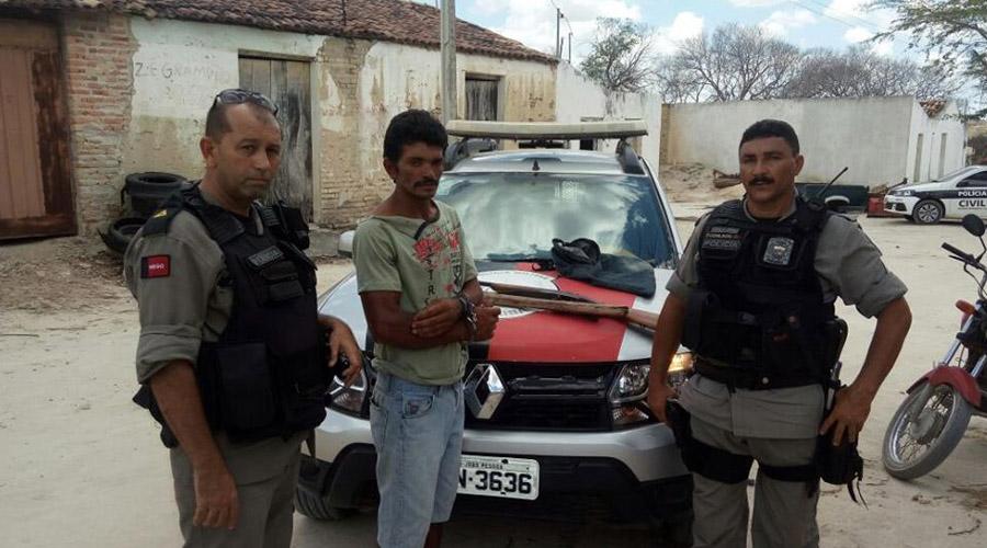 Acusado de matar agricultor a pauladas e enterrá-lo numa carvoeira é preso pela polícia em Matureia
