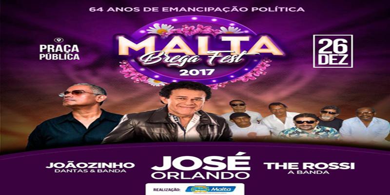 Prefeitura anuncia as atrações do Malta Brega Fest