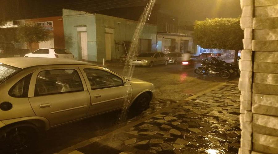 Veja os índices das chuvas de ontem na região de Patos