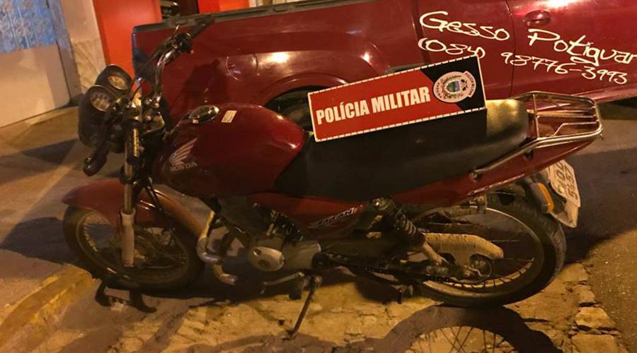 Polícia recupera mais uma moto roubada em Patos