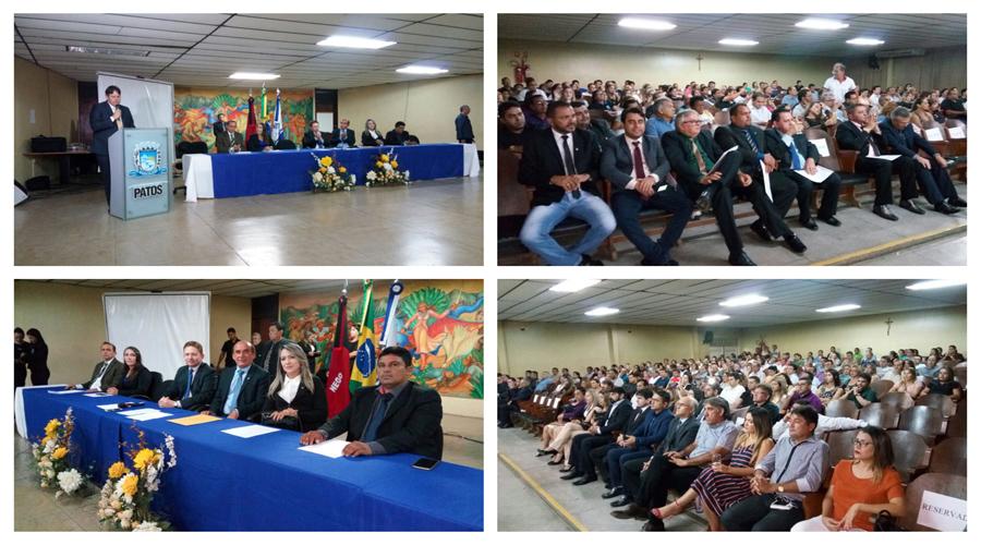 Sessão solene marcou abertura dos trabalhos legislativos em 2018 em Patos