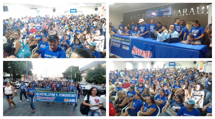 Em assembleia servidores públicos municipais de Patos decidem entrar em greve