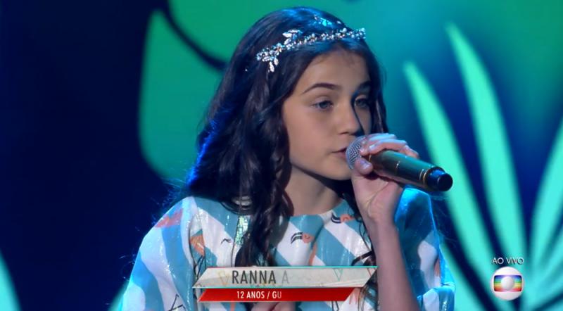 Paraibana Ranna Andrade alcança 45% dos votos e avança no The Voice Kids