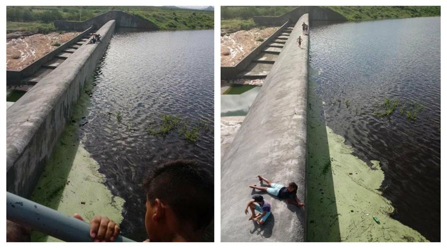 Barragem da Farinha pegando muita água na manhã de hoje