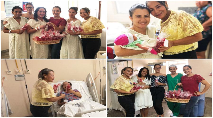 Homenagem no Dia das Mães na Maternidade  de Patos emociona pacientes e funcionárias