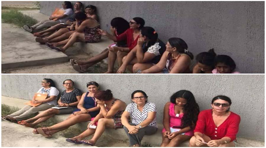 Vereadora denuncia que as pessoas esperam atendimento sentadas no chão no PSF Horácio Nóbrega, em Patos