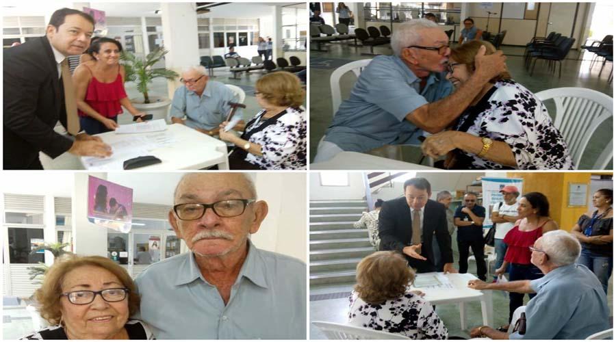 Depois de 45 anos casados no religioso idosos celebram união civil em Patos