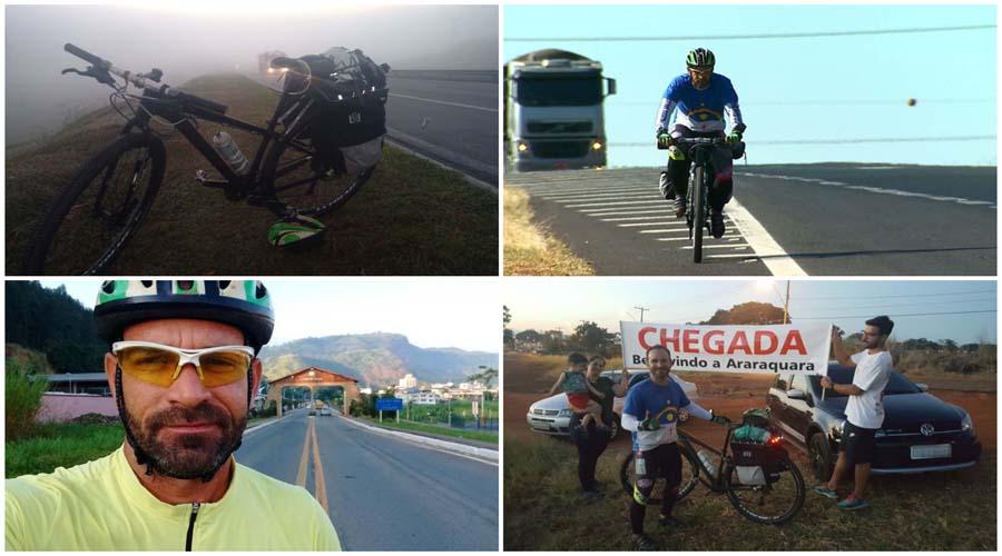 Pernambucano pedala 2,9 mil km em 24 dias para visitar parentes em São Paulo