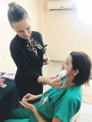 O momento da beleza fez parte da programação da Semana da Enfermagem da MPF