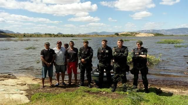 Polícia Ambiental realiza fiscalização na Barragem da Farinha para coibir pesca irregular