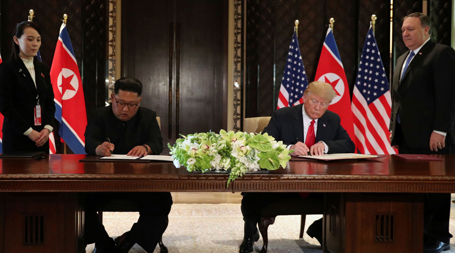 Kim Jong-un se compromete com desnuclearização completa após encontro com Trump em Singapura