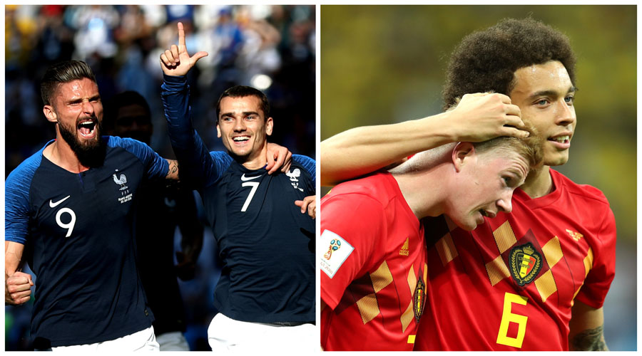França e Bélgica fazem hoje primeiro duelo da semifinal da Copa