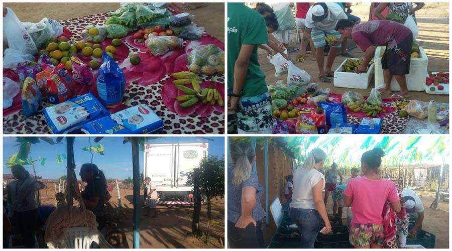 Comunidade mais carente de Patos recebe a primeira doação do Banco de Alimentos do SESC