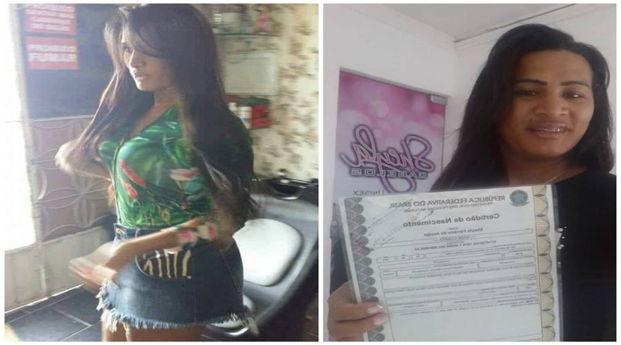 Transex Sheyla Massarara recebe registro com mudança de nome e comemora